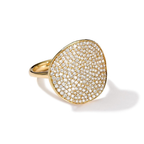 Flower Ring in 18K Gold with Diamonds GR109DIA-A