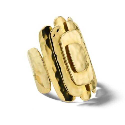 Crinkle Geometric Ring in 18K Gold GR267