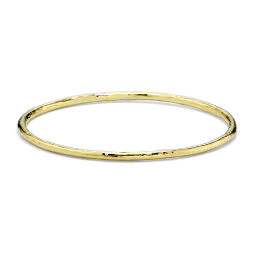 Small Hammered Bangle in 18K Gold GB250