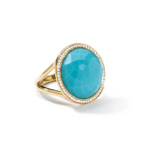 Medium Ring in 18K Gold with Diamonds GR315TQDIA