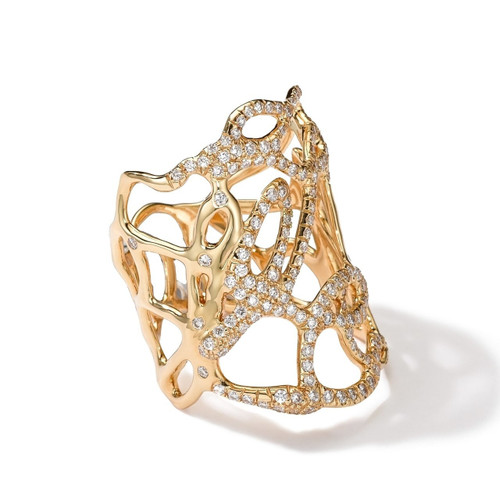 Drizzle Ring in 18K Gold with Diamonds GR322DIA
