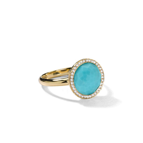 Small Ring in 18K Gold with Diamonds GR342TQDIA