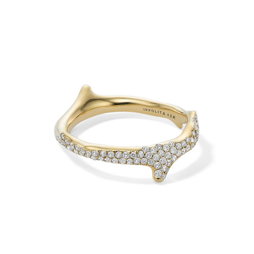 Coral Reef Band Ring in 18K Gold with Diamonds GR379DIA