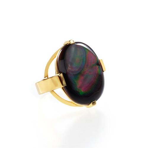 Oval Ring in 18K Gold GR654BKL