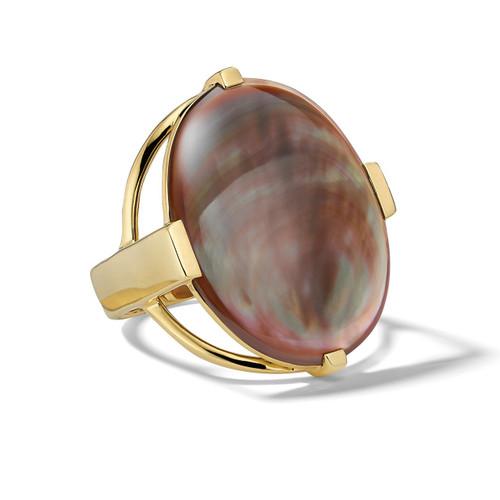 Oval Ring in 18K Gold GR654BRL