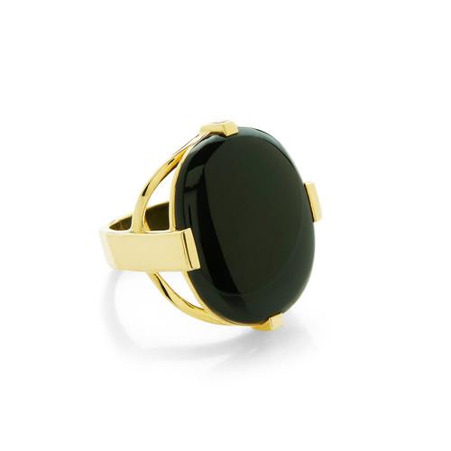 Oval Ring in 18K Gold GR654NX