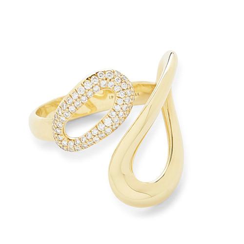 Small Cherish Ring in 18K Gold with Diamonds GR710DIA-B