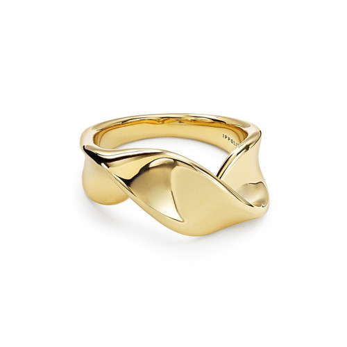 Twisted Ribbon Ring in 18K Gold GR759