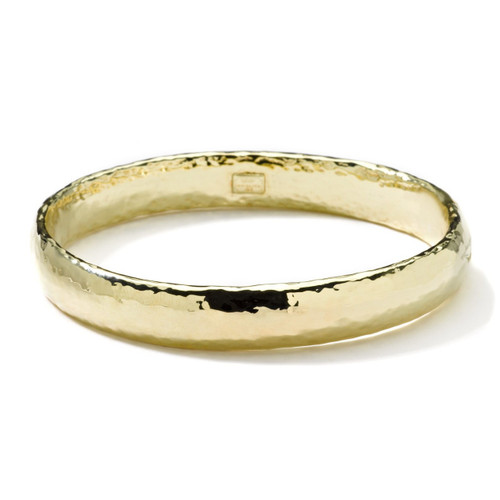 Wide Band Bangle in 18K Gold GB340-PA