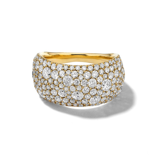 Pinky Ring in 18K Gold with Diamonds GR810DIA
