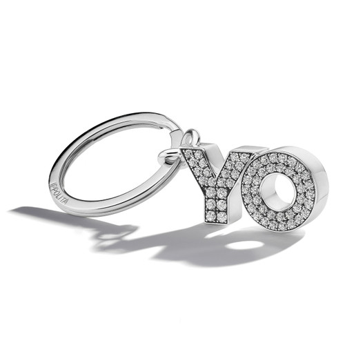 OY/YO Key Ring in Sterling Silver KEY16CZ