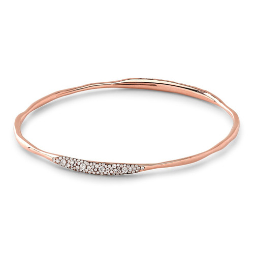 2 Station Bangle in 18K Rose Gold with Diamonds RGB668DIA