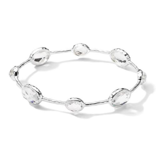 8-Stone Bangle Bracelet in Sterling Silver SB040CQ