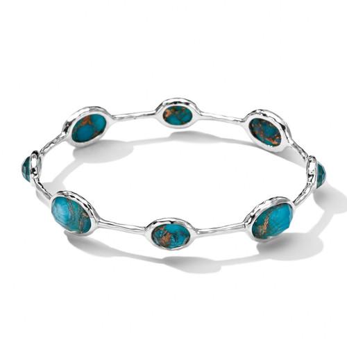 8-Stone Bangle Bracelet in Sterling Silver SB040DFBZTQ