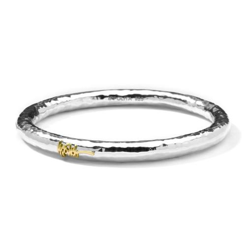 Hammered Signature Bangle Bracelet in Sterling Silver SB074