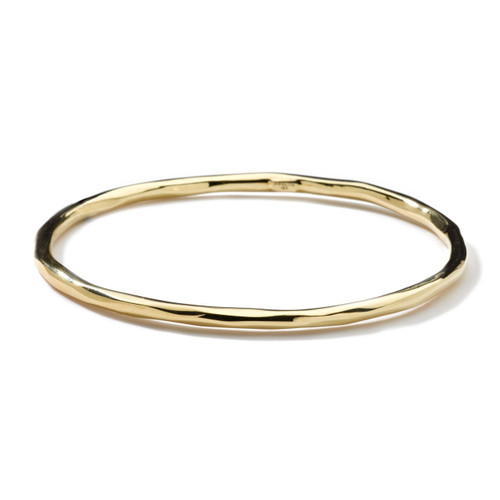 Faceted Bangle in 18K Gold GB405