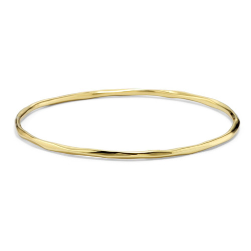 Thin Faceted Bangle in 18K Gold GB422
