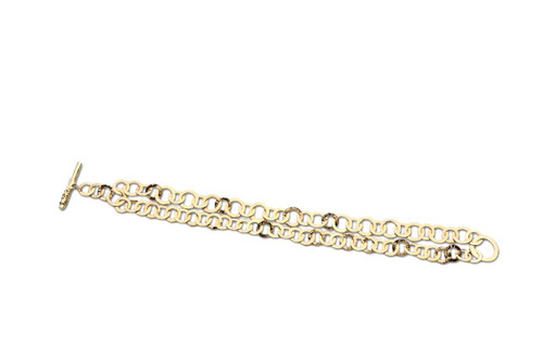 Crinkle Link Bracelet in 18K Gold GB440