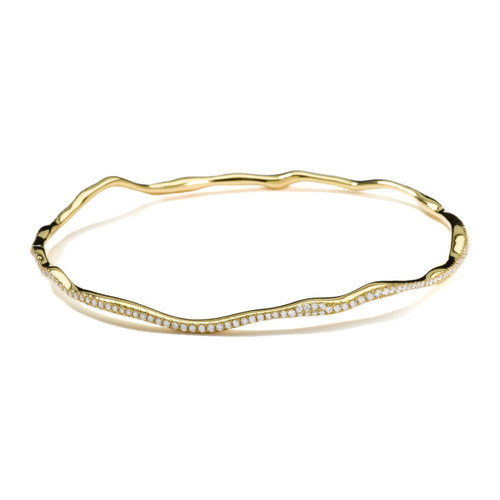 Reef Bangle in 18K Gold with Diamonds GB476DIA