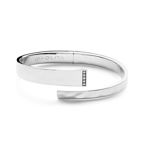 Embrace Bangle in Sterling Silver with Diamonds SB1370DIA