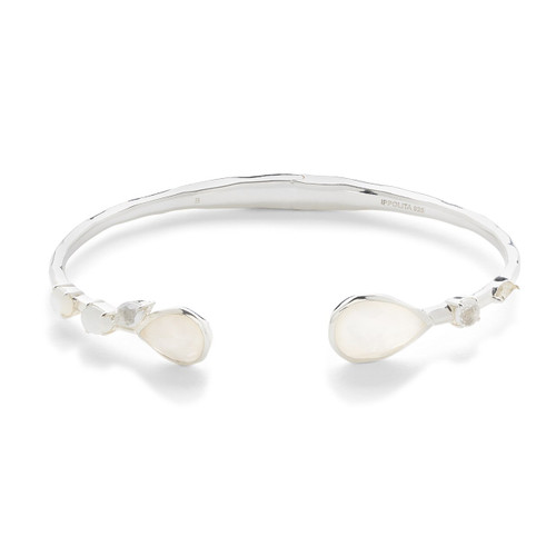 Mixed Stones Hinged Bangle in Sterling Silver SB1419FLIRT