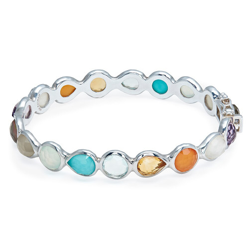 All Around Hinged Bangle in Sterling Silver SB1432MULTI