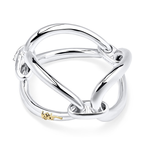 Smooth Cherish Chunky Link Bracelet in Sterling Silver SB1452