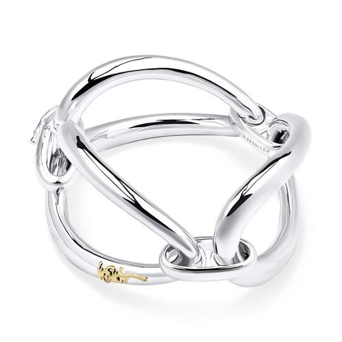 Smooth Cherish Chunky Link Bracelet in Sterling Silver SB1452