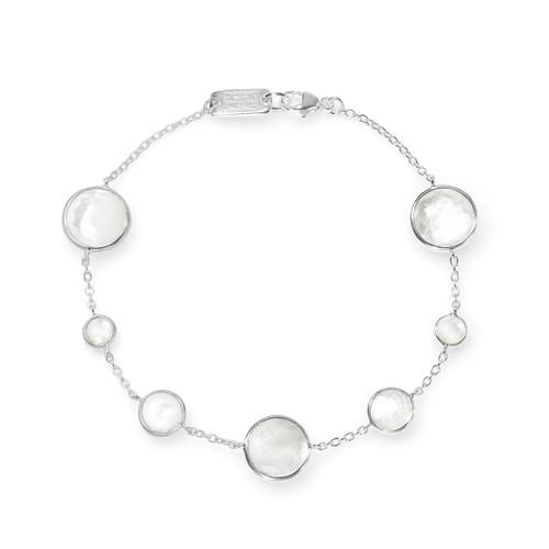 7-Stone Link Bracelet in Sterling Silver SB1468DFMOPMOP