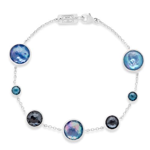 7-Stone Link Bracelet in Sterling Silver SB1468ECLIPSE