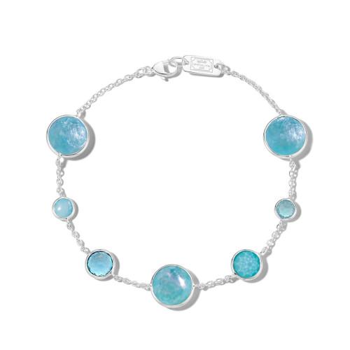 7-Stone Link Bracelet in Sterling Silver SB1468WATERFALL