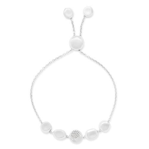 Chain Bracelet in Sterling Silver with Diamonds SB1475DIA