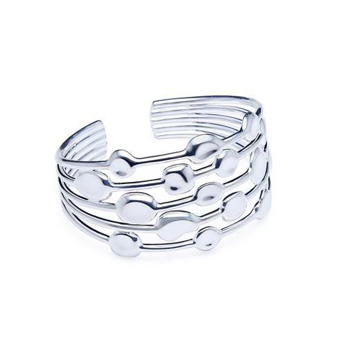 5 Row Cuff Bracelet in Sterling Silver SB1511