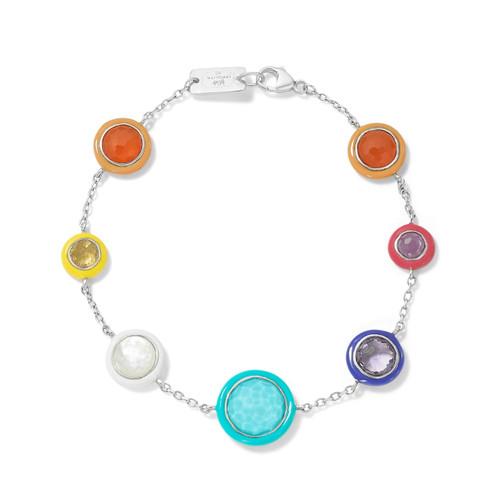 Carnevale 7-Stone Chain Bracelet in Sterling Silver SB1578MULTI