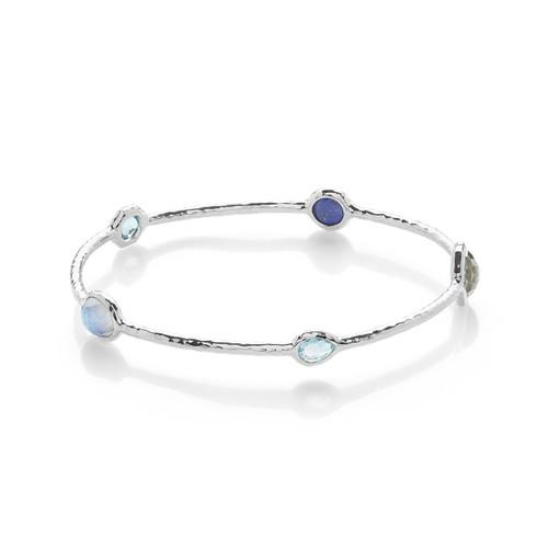 5-Stone Bangle Bracelet in Sterling Silver SB416ECLIPSE