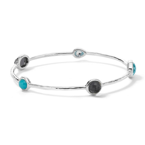 5-Stone Bangle Bracelet in Sterling Silver SB416MARITIME