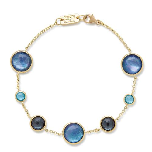 7-Stone Link Bracelet in 18K Gold GB568MIDRAIN