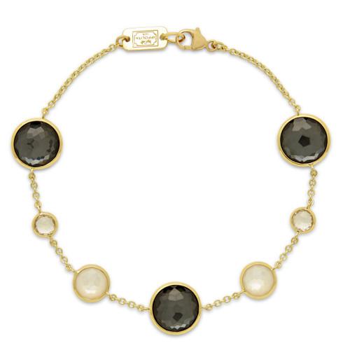 7-Stone Link Bracelet in 18K Gold GB568PIAZZA