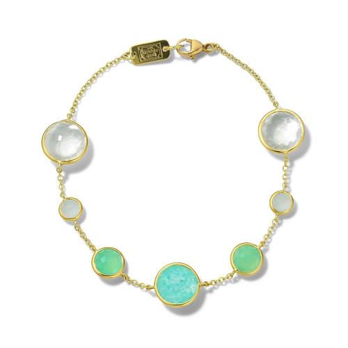 7-Stone Link Bracelet in 18K Gold GB568SIREN