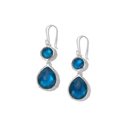 Double Drop Earrings in Sterling Silver SE065DFLAGOON