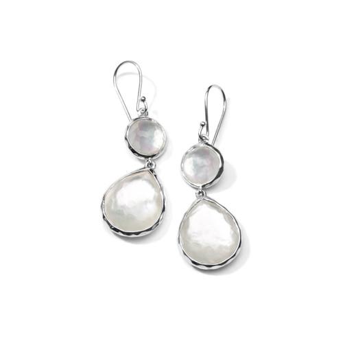 Double Drop Earrings in Sterling Silver SE065DFMOP
