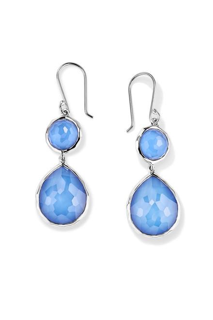 Double Drop Earrings in Sterling Silver SE065DFNORDIC