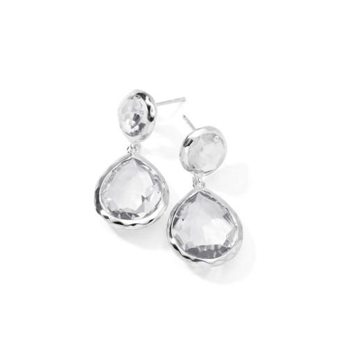 2-Stone Earrings in Sterling Silver SE114CQ