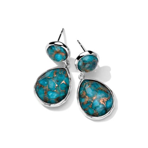 2-Stone Earrings in Sterling Silver SE114DFBZTQ
