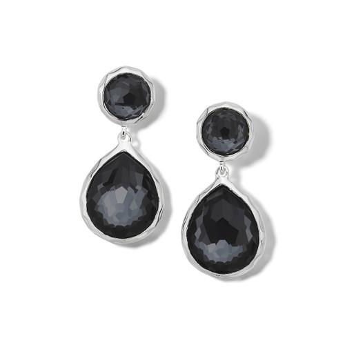 2-Stone Earrings in Sterling Silver SE114DFHEM