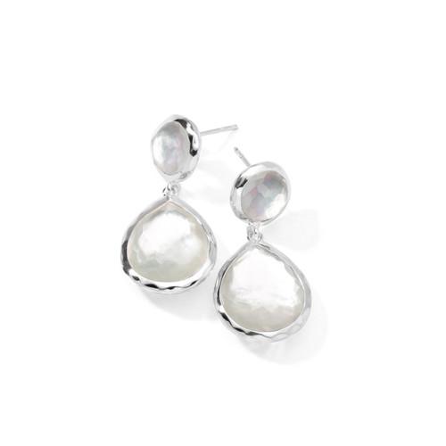 2-Stone Earrings in Sterling Silver SE114DFMOP