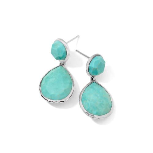 2-Stone Earrings in Sterling Silver SE114TQ