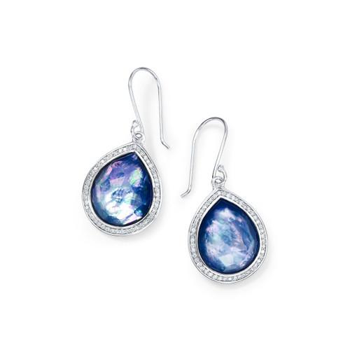 Teardrop Earrings in Sterling Silver with Diamonds SE1151TFCQMPLPDI