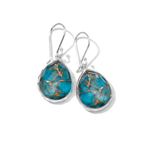 Small Teardrop Earrings in Sterling Silver SE118DFBZTQ