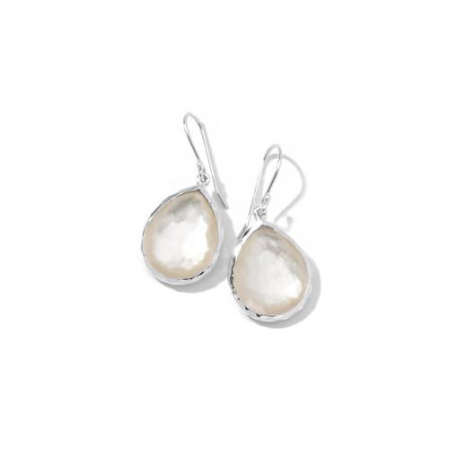 Small Teardrop Earrings in Sterling Silver SE118DFMOP